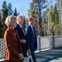 His Highness the Aga Khan tours UAlberta garden
