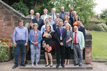 Darwin International Institute for the Study of Compassion (DIISC) summer school 2017, with international colleagues and the Mayor of Shrewsbury.