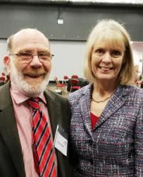 Dr Lynne Livesey and Professor Patrick Pietroni - Launch 2018