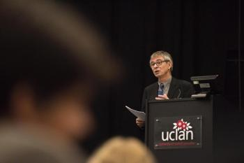 John Ballatt, Developmental Director of DIISC, at the launch of UCLan's new Centre for the Study of Compassion.