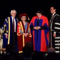 Aga Khan conferred with two honorary degrees by UBC and SFU in historic joint ceremony- Video