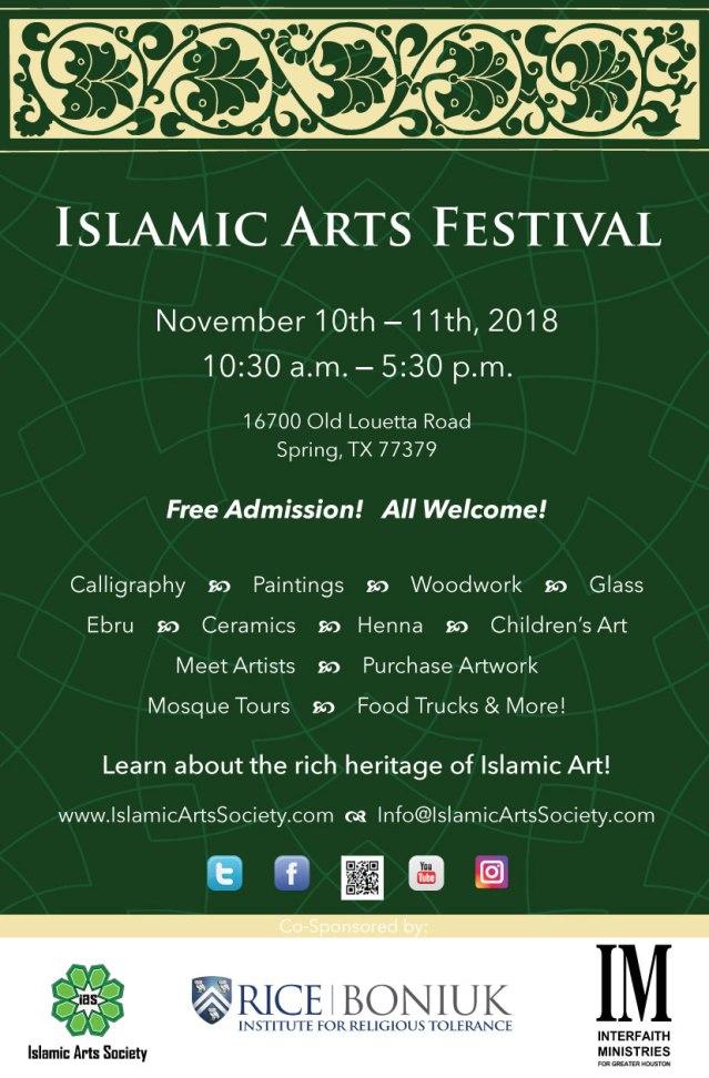 2018 Islamic Arts Festival Flyer (1)