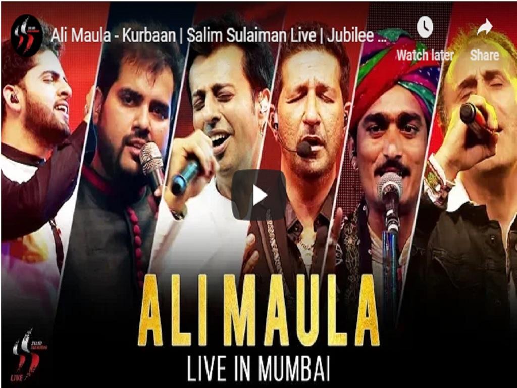 Salim Sulaiman Live Ali Maula Jubilee Concert Mumbai 2018