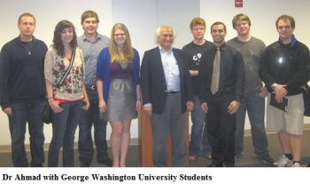 Dr Ahmad with George Washington University students