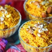 Zarda (sweet rice): A Traditional Dessert for Eid Celebrations by Shahzadi Devje