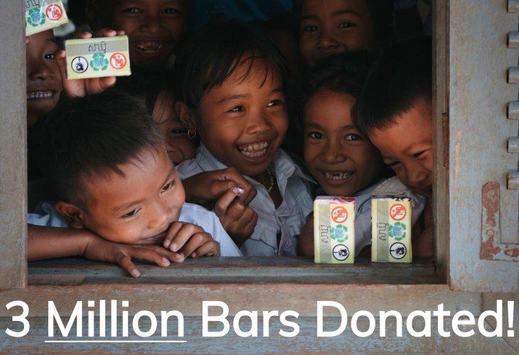 3 million bars donated