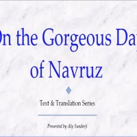 Aly Sunderji: On the Gorgeous Day of Navruz #Navroz #Navroz2019