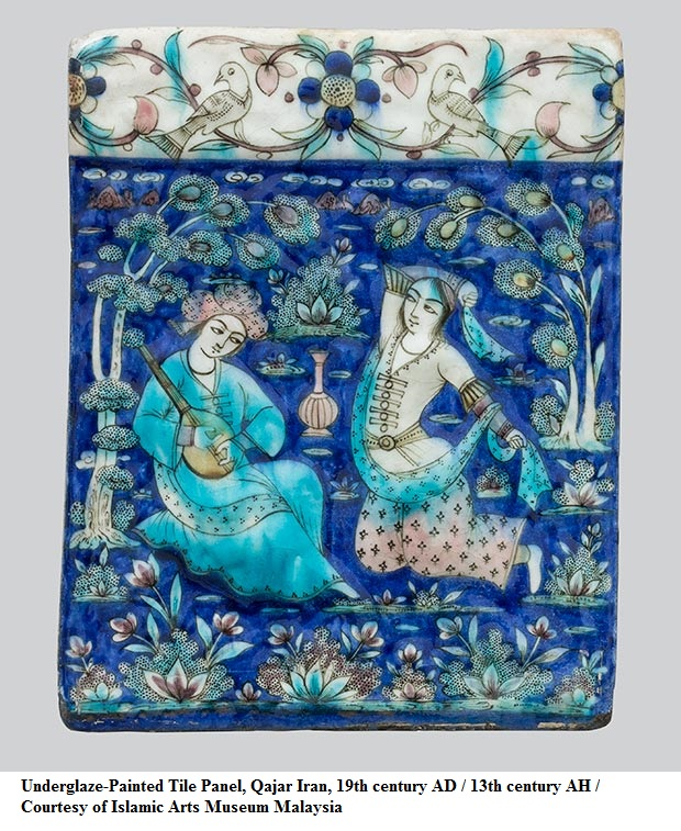 Underglaze-Painted_Tile_Panel-Qajar_Iran-19th_century_AD