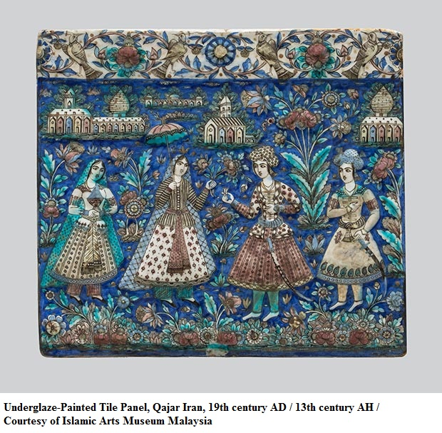 Underglaze-Painted_Tile_Panel_Qajar_Iran-19th_century_AD