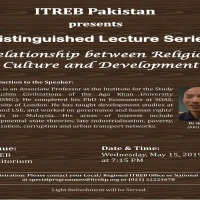 Distinguished Lecture Series (DLS): Relationship between Religion, Culture, and Development