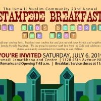 The Ismaili Muslim Community 23rd Annual Stampede Breakfast 2019- Calgary, Canada