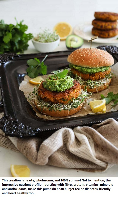Desi-Pumpkin-Bean-Burger-Healthy-Ethnic-Recipes