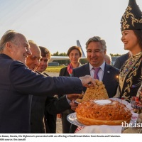 Kazan, Russia: Arrival of His Highness the Aga Khan for #AKAA2019 Ceremony