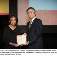 Professor Amina Jindani: Global Award for Champion of Tuberculosis Eradication @UnionConference @AKUGlobal @SKMCH @StGeorgesUni @wwtb_uk