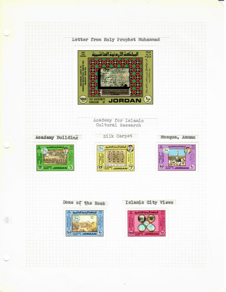 Historical Stamps from Jordan