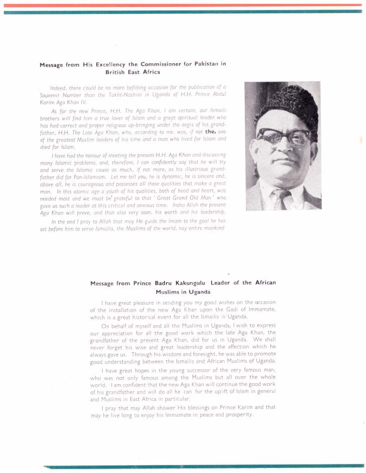 Souvenir of Entrhronement of Mawlana Hazar Imam Uganda Oct 25 1957_Page_06