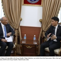 Foreign minister Chingiz Aidarbekov of the Kyrgyz Republic meets with AKDN representative Shamsh Kassim-Lakha @ucentralasia @AKDN