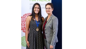 Qaeeza Ramji Cedar Hill Middle School Victoria Bc Wins 1st Place Award At Provincial French Public Speaking Competition Ismailimail