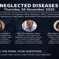 Cov360 Virtual Event: Neglected Diseases:  How the current pandemic impacts neglected diseases, HIV, tuberculosis, and cryptococcal meningitis